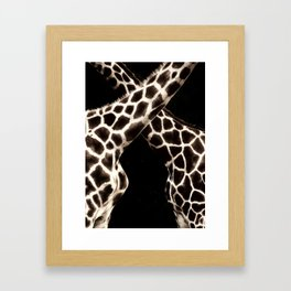 Cross Patterns. Framed Art Print