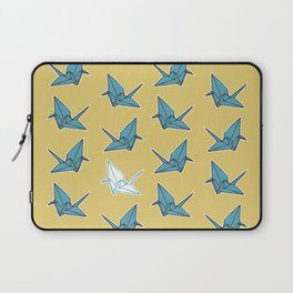 PAPER CRANES BABY BLUE AND YELLOW Laptop Sleeve