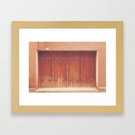 Abyaneh Door #1 (from the series 'Iranian Doors') Framed Art Print