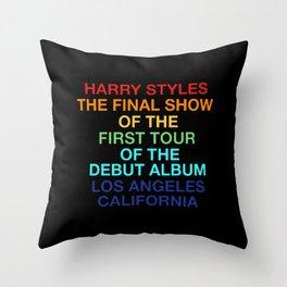 Harry Styles Final Show Throw Pillow