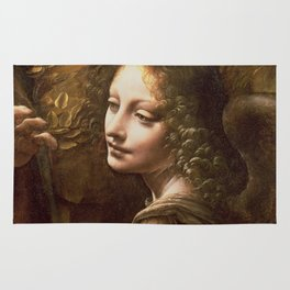 "Leonardo da Vinci ""The Virgin of the Rocks (London)"" Angel Rug"