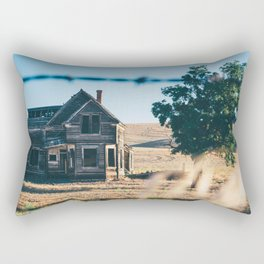 Abandoned Farmhouse in Dufur, Oregon Rectangular Pillow