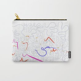 abstract color splash Carry-All Pouch