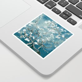 Vincent Van Gogh Almond Blossoms Teal Sticker