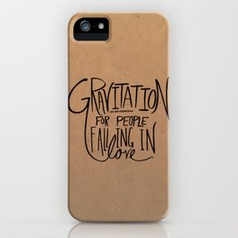 Gravitation iPhone Case