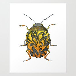 beetle_yellow Art Print