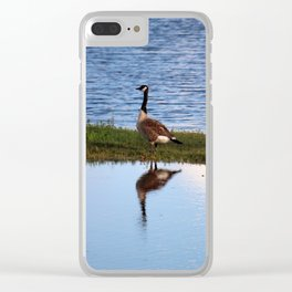 Goose Reflection Clear iPhone Case