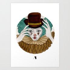 Pierrot...Pierrette Art Print