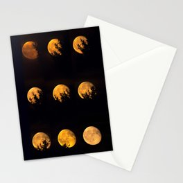 Red blood waning moon Stationery Cards