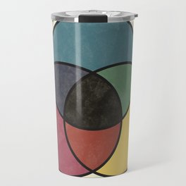 Matthew Luckiesh: The Subtractive Method of Mixing Colors (1921), vintage re-make Travel Mug