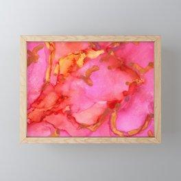 Pink and Gold Framed Mini Art Print
