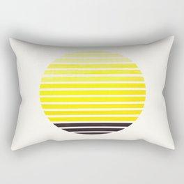 Yellow Mid Century Modern Minimalist Scandinavian Colorful Stripes Geometric Pattern Round Circle Fr Rectangular Pillow