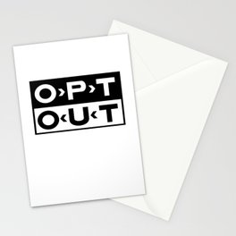 OPT OUT Stationery Cards