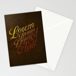 Lorem Ipsum--Vintage Typography & Lettering Stationery Cards