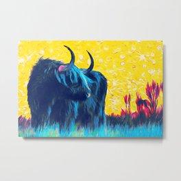 Horny (blue) Metal Print