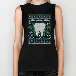 Dental Hygientist Ugly Christmas Sweater Holiday T-Shirt Biker Tank