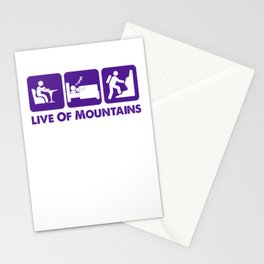Live Of Mountains pu Stationery Cards