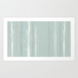 The Blue Forrest Art Print