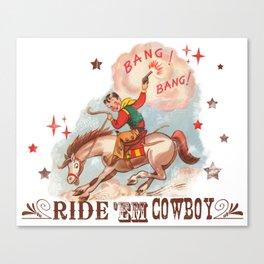 Retro Cowboy Canvas Print