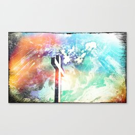 Holy Cross Pastel Distressed Canvas Print