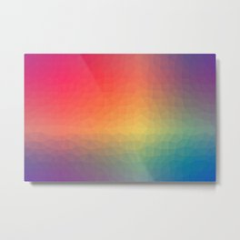 Polygon Style Metal Print