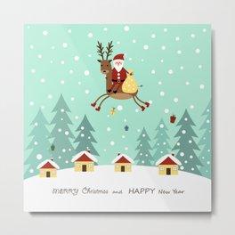 Hello Santa Claus Metal Print