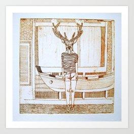 ciervo de mar Art Print