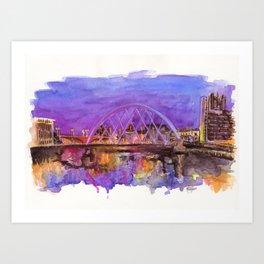 Glasgow Sunset Art Print