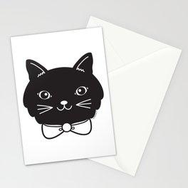 Dapper Black Kitty Cat Stationery Cards