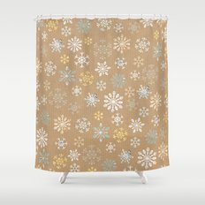 snow flakes pattern Shower Curtain