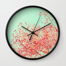 Red autumn Wall Clock