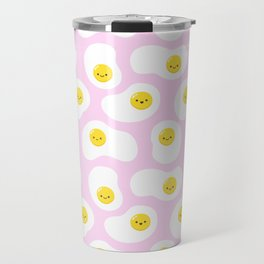 Cute Fried Eggs Pattern Travel Mug