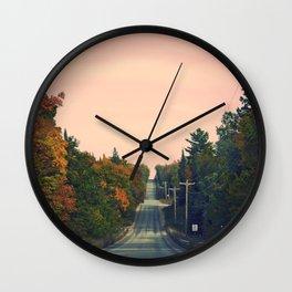 Long Road Ahead  Wall Clock
