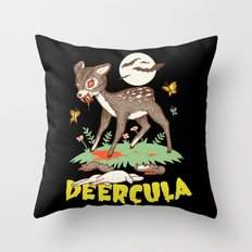 Deercula Throw Pillow