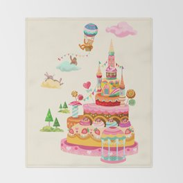 Ice Cream Castles In The Air Throw Blanket
