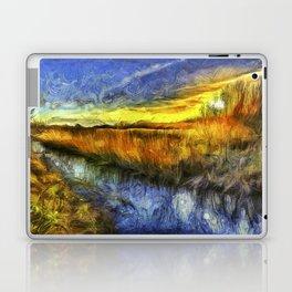 Sunset River Van Gogh Laptop & iPad Skin