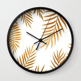 golden leafs Wall Clock