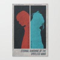 eternal sunshine of the spotless mind Canvas Prints featuring Eternal Sunshine of the Spotless Mind - Poster by Edward J. Moran II