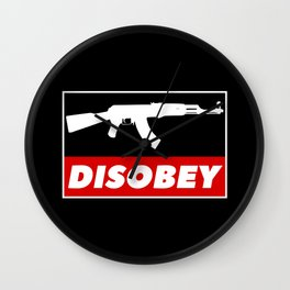 DISOBEY Wall Clock