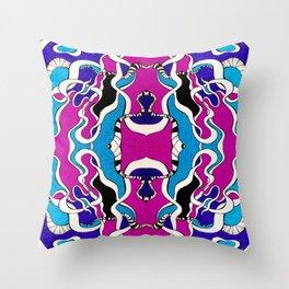 Bi-thon Python Throw Pillow