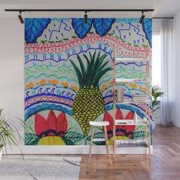 Tropical Dancers Zen Doodle Drawing Wall Mural