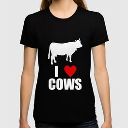 I Love Cows Red Heart Cow T-shirt