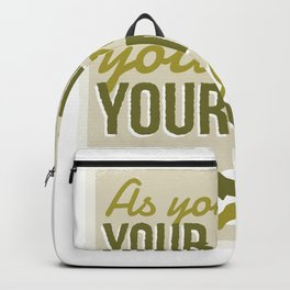 Move your hands move your mind Backpack
