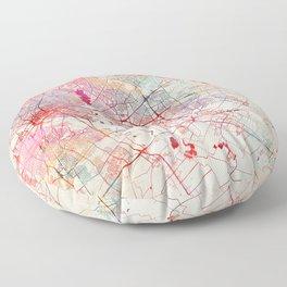 Mesquite map Texas painting Floor Pillow