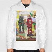 robots Hoodies featuring Robots by Five Ate Five Studios