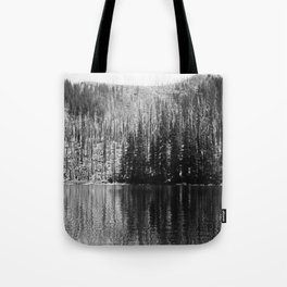 Reflection of Trees On Water Tote Bag