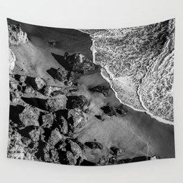 Ocean Waves on Rocks Wall Tapestry