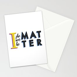 We all matter Stationery Cards