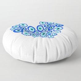 Blue Heart  Floor Pillow