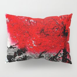 TREE RED WOLF Pillow Sham